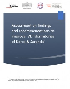 Assessment on findings & recommendations to improve VET dormitories of Korca & Saranda