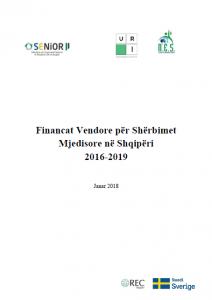 Financat Vendore për Shërbimet Mjedisore në Shqipëri 2016 -2019