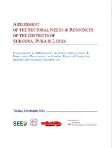 Vleresimi i nevojave sektoriale dhe resurseve